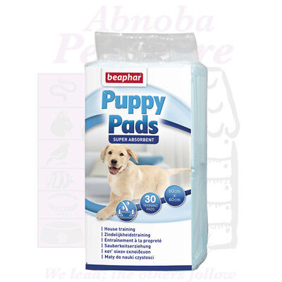 30 Beaphar Puppy Pads very absorbent ideal floor cover under feeding water bowl