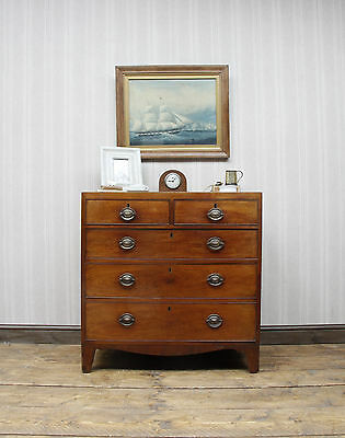 Late Georgian Mahogany Chest of Drawers, Well Aged Bedroom drawers
