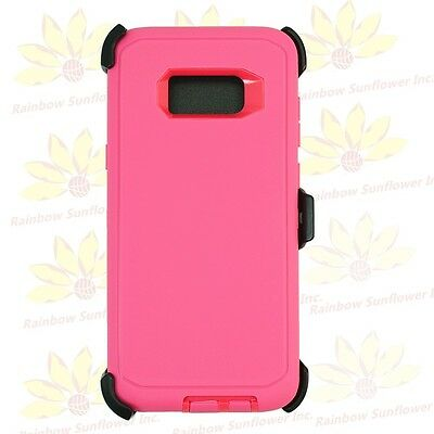 Whole Pink For Samsung Galaxy S8 Case Cover w/[Clip Fits Otterbox Defender]