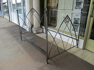Gothic Style Metal Double Bed / Double Bed Frame / Gothic Style Bedstead