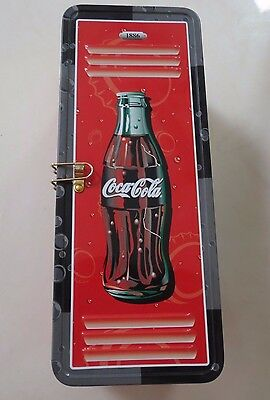 Vintage Coca-Cola Tin With Hinged Lid Rectangle Box