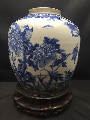 Big Antique Chinese porcelain Blue & White Jar 19th Century