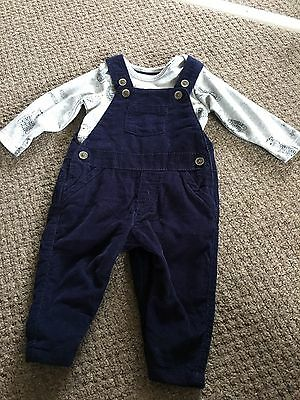Baby Boy Brand New Dungaree Set Marks And Spencer 3-6 Months
