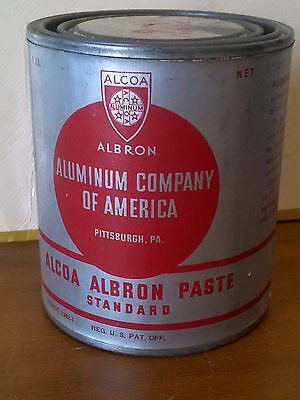 VTG 1930's ALCOA ALBRON 1 lb Aluminum Paste - Aluminum Paint Mix USA - UNOPENED