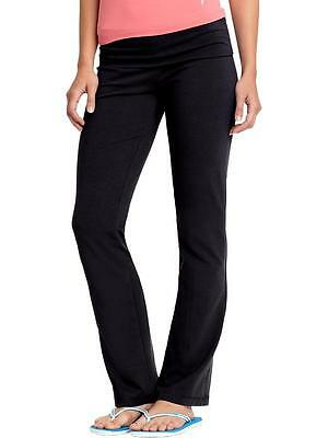 Old Navy Women's Active High Rise Fold Over Yoga Pants (#633) - BLACK