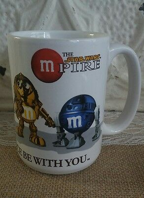 "RARE 2005 Star Wars M&M MPIRE Empire Coffee Mug Cup ""May The Force Be With You"""