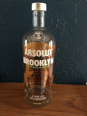 Empty Absolut Brooklyn 1L Bottle - Limited Edition