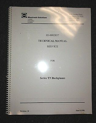 Electronic Solutions Technical Service Manual For Series Tn Backplanes
