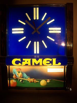 Vintage 1992 Original Joe Camel Advertising Lighted Sign / Clock
