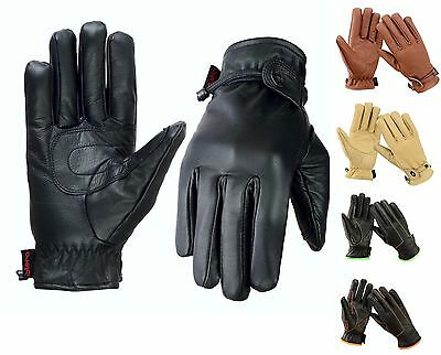 EVO Premium Real Leather Gloves Motorbike Motorcycle Fashion Warm Thermal winter