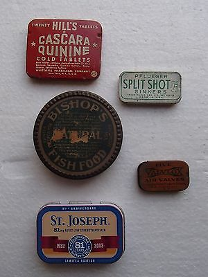 Vintage Lot of Medicine Tins & Other Tins