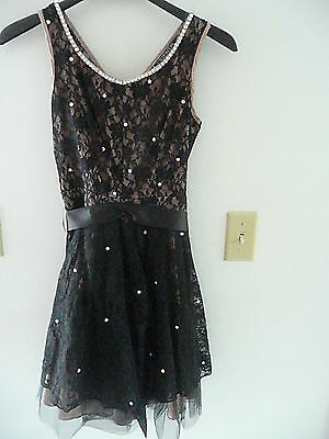 black lace dress with swarovsky crystals