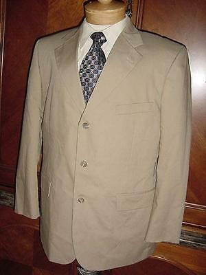 Mens Brooks Brothers 346 Tan Sport Coat Blazer Sz 43R  D89