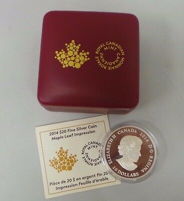 2014 Canada $5 Privy Mark Silver Maple Leaf Coin 1oz .9999 fine Silver