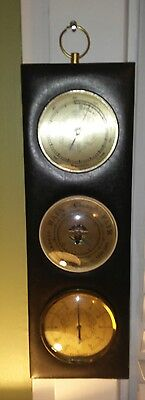 Vintage France made hygrometer, barometer, and thermometer.