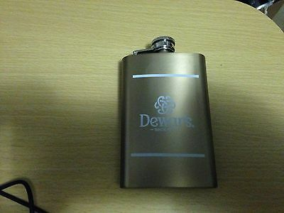 Dewar's Scotch Flask Stainless Steel New Dewars Dewar White Label Gift