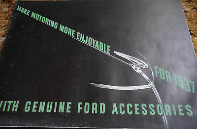 """1937 FORD """"GENUINE FORD ACCESSORIES"""" Scarce Original 12 page brochure catalog"""