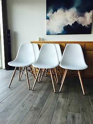 6 Brand New White Dining Room Chairs