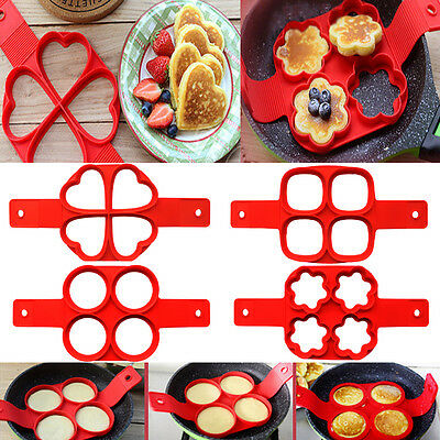 Non Stick Pancake Pan Flip Breakfast Maker Egg Omelette Kitchen Mould Mold Tool
