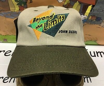 John Deer Tractor BEYOND THE LIMITS Vintage Hat Cap NEW TAGS NWT