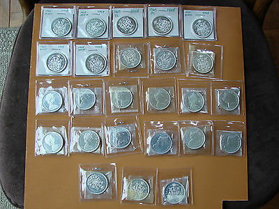 Group of 25 Canada 50 cent 1965 Proof-Like Uncirculated coins.