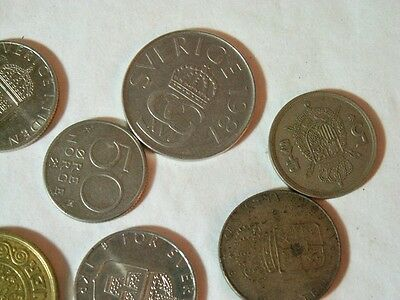 Mixed Lot Of Europe Coins -5, 10,  20 Kroner- & Others
