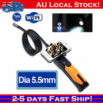 Wireless Dia 5.5mm WIFI Endoscope Snake Borescope Camera For Android iPhone 7 bQ