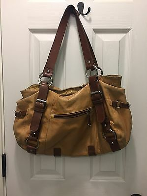 TANO Tan Camel Leather Shoulder Bag Hobo purse handbag