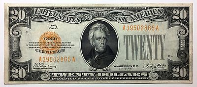 1928 $20 Gold Certificate XF+ EF  Bright and attractive