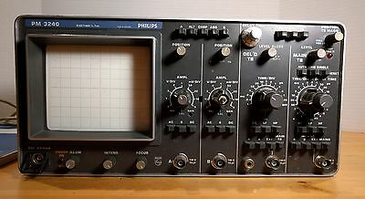 Philips PM 3240 Oscilloscope 50MHz Dual Channel Trace with Manual