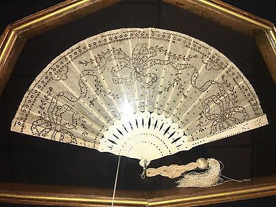 Tiffany & Co Silk And Ivory Fan-1880's Antique