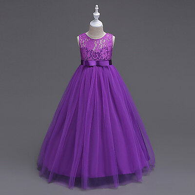 Kids Girl Baby Flower Party Prom Bridesmaid Pageant Occasion Wedding Dress Gown