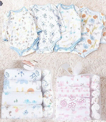 Newborn Infants Clothing Baby Boys Girls Suits Toddlers Gift Set Clothes 0-12M