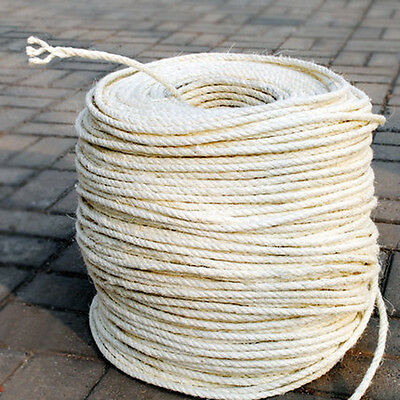 8mm Sisal Rope | Natural Fibre | DIY Cat Scratching Post | Per Metre