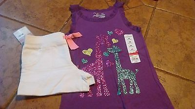 Girls Carter's shorts and Jumping Beans shirt size 6/6X NWT