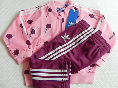 Adidas Jogging Tracksuit I BBall SS For Girls in pink/Wine red new