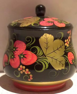 Russian Lacquered Wooden Khokhloma Pot