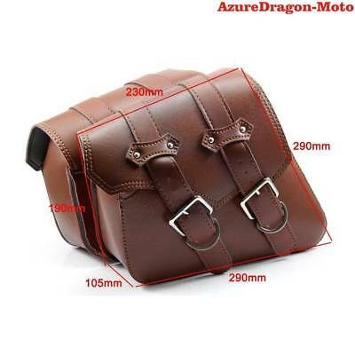 Motorcycle Saddle Bag PU Leather For Harley Sportster XL 883 XL 1200 AU