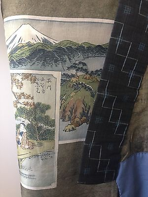 Vintage Japanese Silk Kimono Antique One of a Kind Hand Made Costume Robe