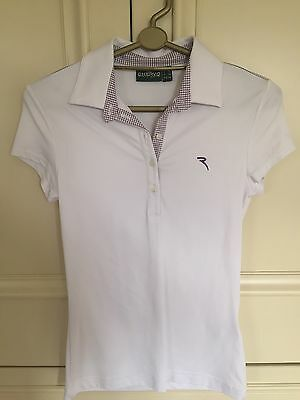 Ladies Golf Chervo Sports White Top With Lilac Size UK 6