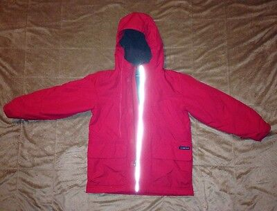 Lands End Red Jacket Boys Size Small 7-8 Fleece Lined Pre Owned
