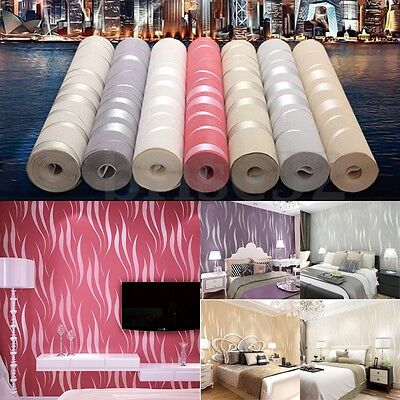 3D Modern 10M Wall Non-Woven Paper Bedroom Stickers Living Room Background Decor