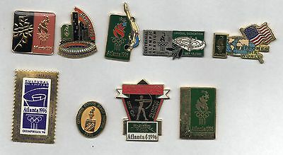 9 nice pins from Atlanta 1996 summer Olympics
