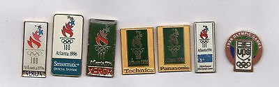 8 nice sponsor pins from Atlanta 1996 summer Olympics - Technics Panasonic Xerox