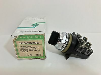 New! Ge / General Electric 3 Position Maintained Selector Switch Cr104Psg32B91