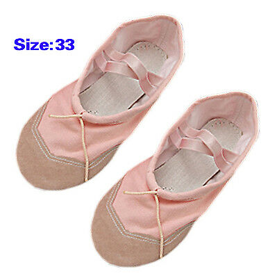 Girls Pink Ballet Dance Dancing Soft Shoes Size 1.5 BF