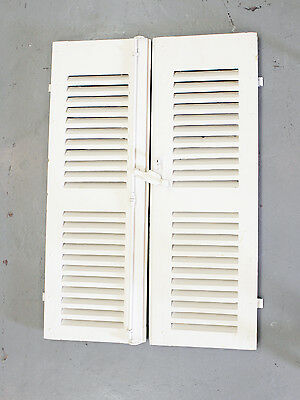 Original French style louvered shutters