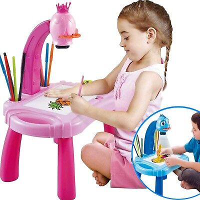Kids Drawing Table Childrens White Board Art Easel Magnetic Magnet Pink Blue New