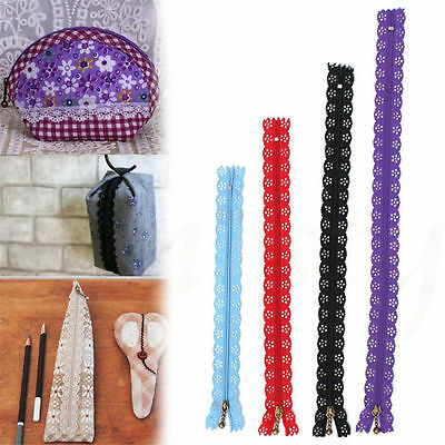 2/5x Nylon Mixed Color Lace Edge Zipper Puller For Tailor Sewer DIY Craft Decor
