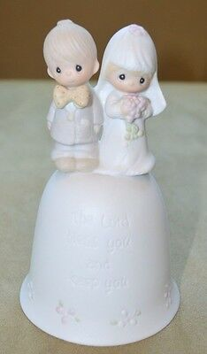 Precious Moments Wedding Bell Bride Groom E7179 Lord Bless You Dove Marking